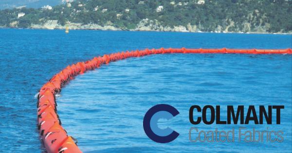 Tissu enduit pour barrage anti-pollution CR-CSM